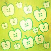 Ilustracja jabłko streszczenie tło i wzór — Zdjęcie stockowe