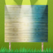 Billboard on grass background and texture - Stockfoto