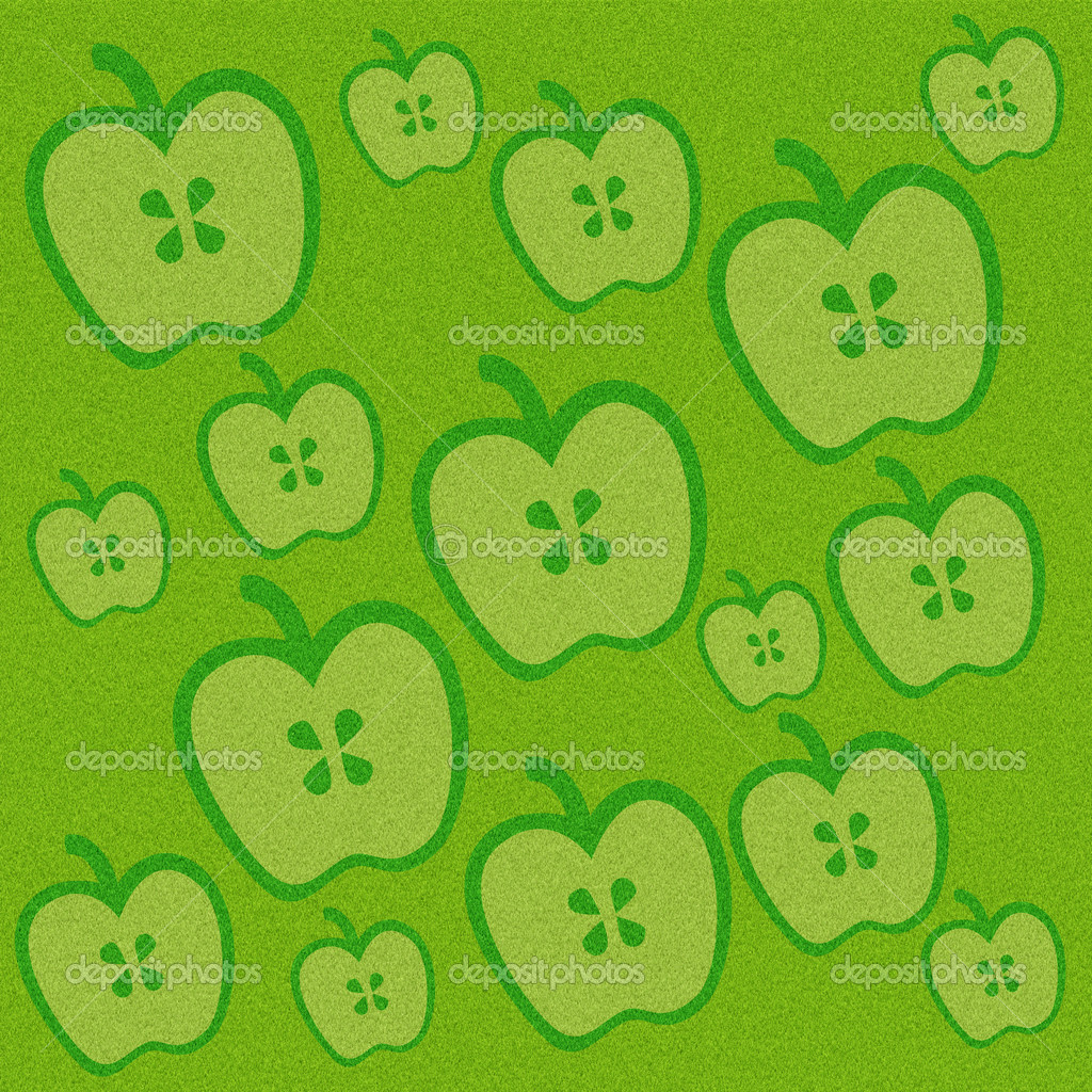 Apple on green grass background — Stock Photo #11415326