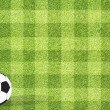 Stock Photo: Football soccer on grass background
