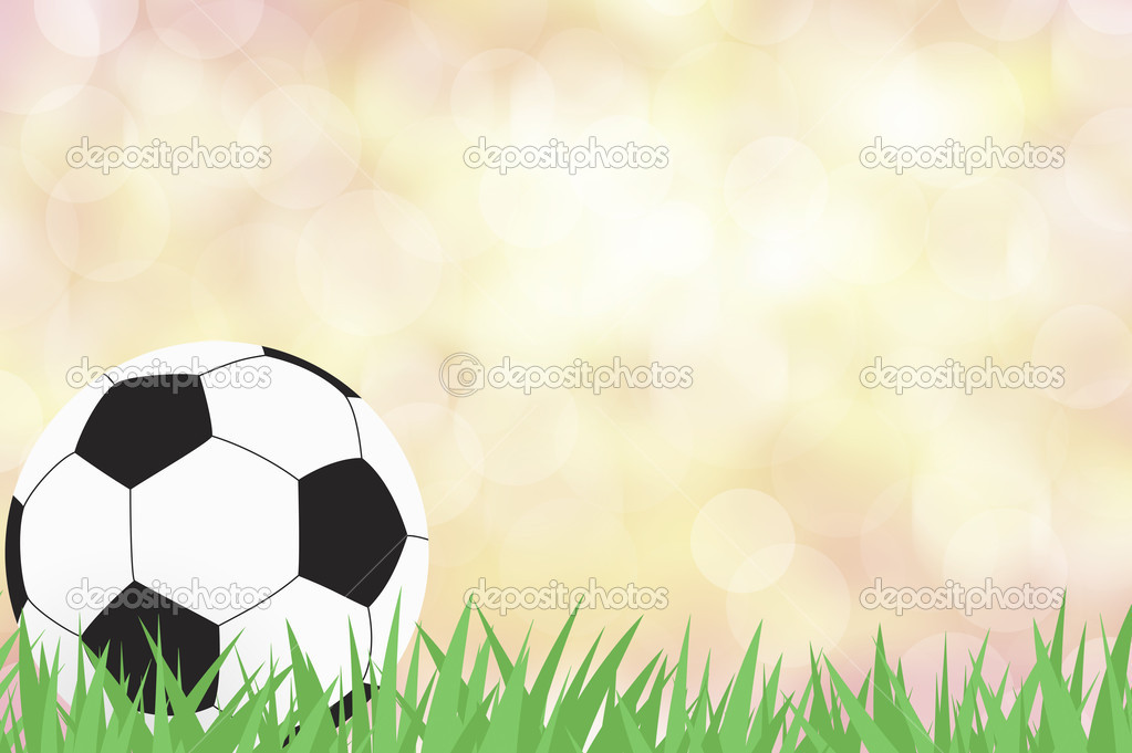 Football with green grass on color abstract  background — Stock Photo #11720084