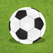 Football soccer on grass background — Stok fotoğraf