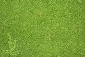 Spor sıçrama yeşil çim doku ve arka plan — Stok fotoğraf