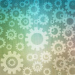 Stock Photo: Gears icon background and pattern