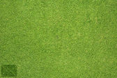 Mail icon on green grass texture and background — Stock Photo