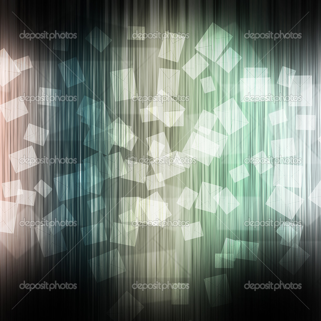 Mail on color wave abstract background — Stock Photo #12194091