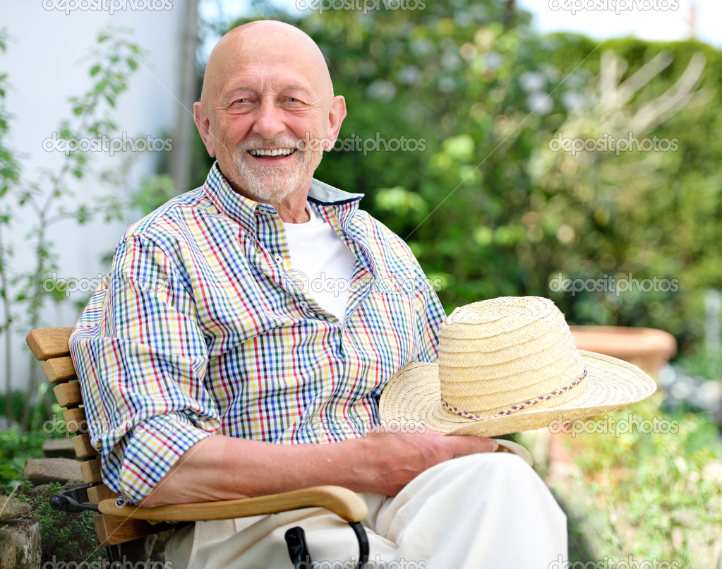 Portrait of senior man outdoors  Stock Photo #10827773