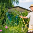 Watering the garden - Stock Photo