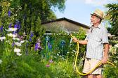 Watering the garden — Stock Photo