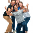 Group of the college students — Stock Photo #11957939