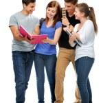 Grupo de los estudiantes universitarios — Foto de Stock   #11957977