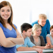 Students working together in a classroom — Stock Photo