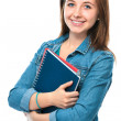 Student girl with books — Stock Photo