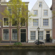 Old facades, leiden — Stock Photo