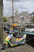 Scooter at voorhaven, rotterdam — Stock Photo