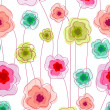 Seamless doodle stick floral pattern. — Stock Vector #11250896