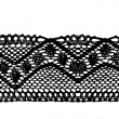 Stock Vector: Black endless lace stripe