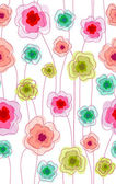 Seamless doodle stick floral pattern. — Stock Vector
