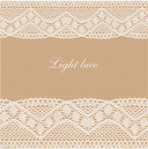Beige lace background — Stock Vector