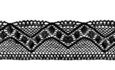 Black endless lace stripe — Stock Vector