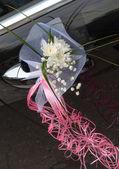Düğün araba dekorasyon — Stok fotoğraf