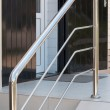 Metal handrail — Stock Photo