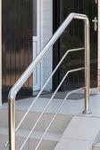 Metal handrail — Stock Photo