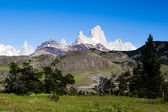 CHALTEN TORRE AND FITZ ROY MOUNTAINS — Stock Photo