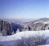 Panoramic view of winter in the low mountain 02 — Stock Photo