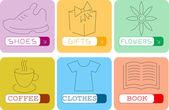 Stickers — 图库矢量图片