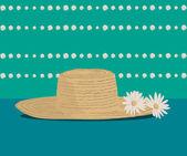 Illustration of a sombrero straw hat — Stock Vector