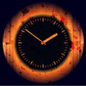 Wall clock. Vector illustration. — Stock Photo