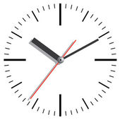 Wall clock. Vector illustration. — Vettoriale Stock