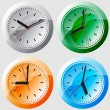 Wall clock. Vector illustration. — Stock Vector #11993513