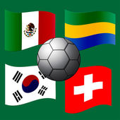 De vlag van het land. — Stockvector