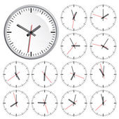 Wall clock. Vector illustration. — Stockvektor