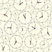 壁掛け時計。シームレスです. — ストックベクタ