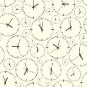 De klok van de muur. naadloze. — Stockvector