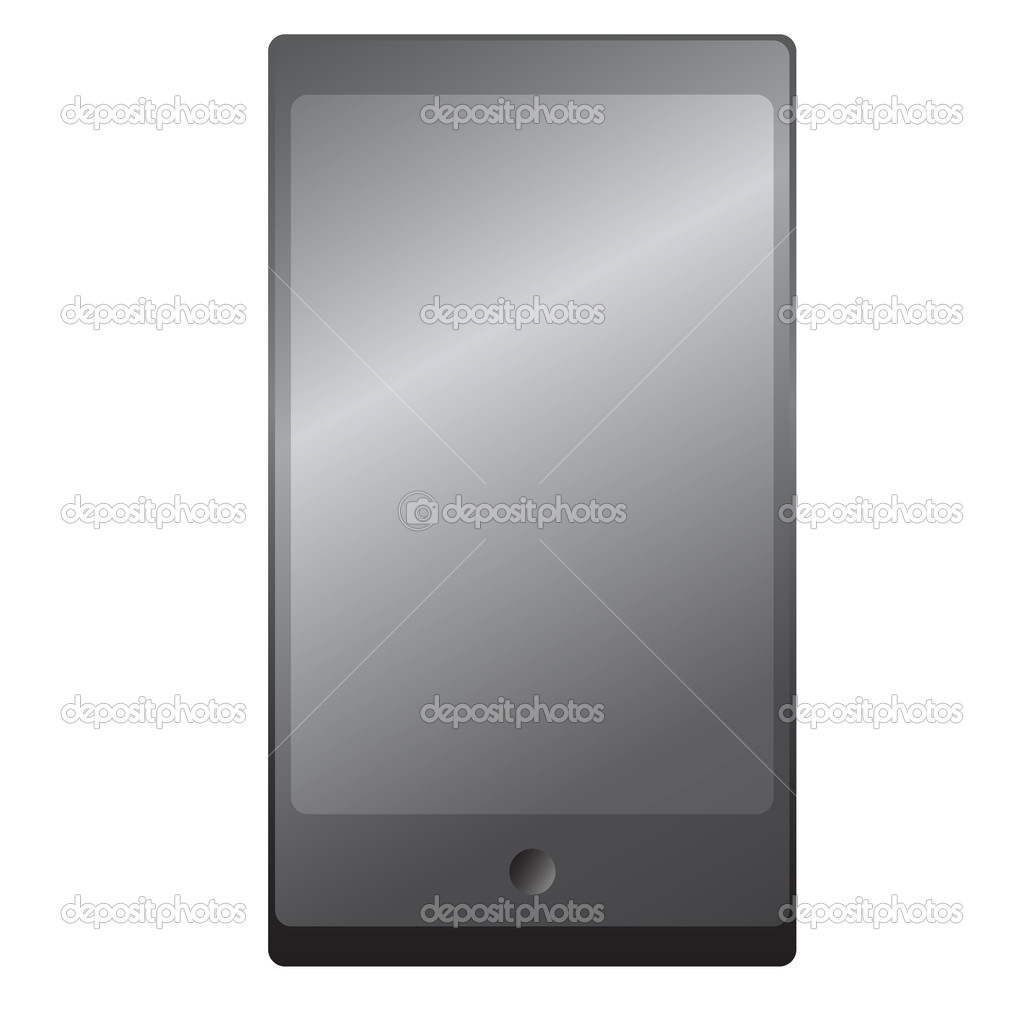 Tablet computer. The electronic device. Vector illustration. — Stock Vector #12324033