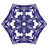 Copo de nieve abstracta decorativa. — Vector de stock