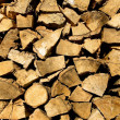 Batch of firewood — Stock Photo