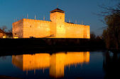 The castle of Gyula in twilight — Stock Photo