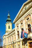 The cityhall of Gyula — Stock Photo