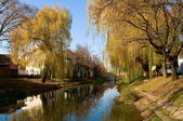 The riverside of Körös in Gyula — Stock Photo