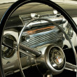 Stock Photo: Steering wheel of Buick 1952