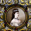 Portrait of empress Elisabeth of Austria — Stock Photo