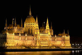 The Hungarian Parliament by night — Stock Photo