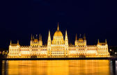 The Parliament in Budapest by night — Stock Photo