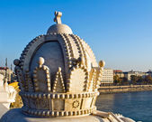 Stone crown in Budapest — Stock Photo