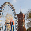 Berlin cityhall and ferris wheel — Stock Photo #11902113